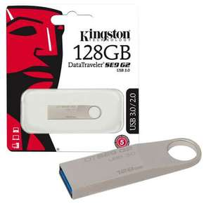 Kingston Data Traveler SE9 G2 USB 3.0 Flash Drive Memory Stick - 128GB at 7dayshop for £22.99