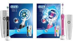 Two Oral B Pro Toothbrushes in Pink or Black £33.97 @ Groupon
