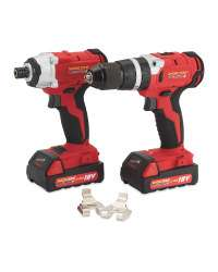 Workzone Titanium 18v Li-Ion Brushless Drill Kit £119.99 @  Aldi