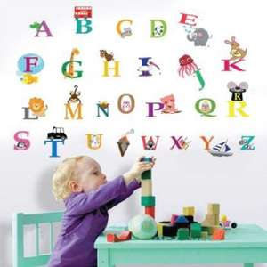 Walplus 30x60 cm Wall Stickers Cute Alphabet Removable Self-Adhesive Mural Art Decals £2.99  (Prime) / £6.98 (non Prime) at Amazon