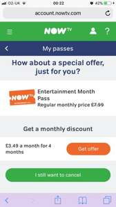NowTV Entertainment Package Savings