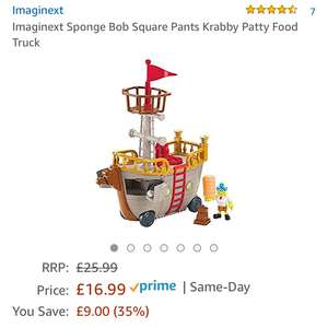 Imaginext Sponge Bob Square Pants Krabby Patty Food Truck £16.99 (Prime) / £21.74 (non Prime)  Sold by Mytoyfactory and Fulfilled by Amazon