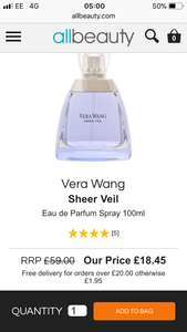 Vera Wang Sheer Veil Eau de Parfum Spray 100ml £18.45  All Beauty