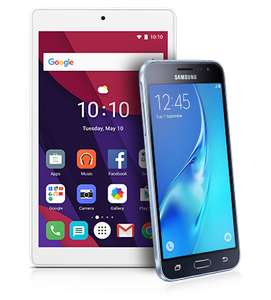 "Samsung Galaxy J3 + Alcatel 7"" Tablet - 5Gb Data, 1500min, Unlim Texts - £16p/m at Virgin"