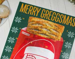 Greggs Advent Calendar with voucher for an item each day for £24 (includes £5 gift card)