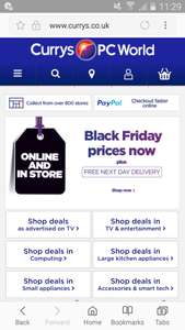 WHY WAIT? early Black Friday deals at CURRYS ( in store & online)