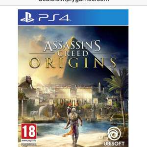Assassins creed origins £39.99 PS4 and Xbox one £39.99 at  Simply Games