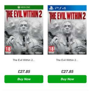 The Evil Within 2 [Xbox / PS4] £27.85 @ Simply Games