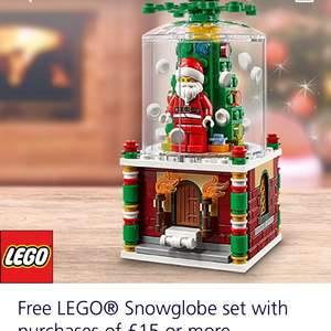 Free Lego Snowglobe Set with purchases £15 and over @ Lego (O2 priority)