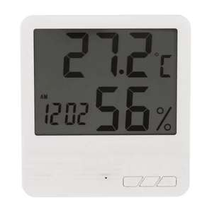 Indoor LCD Electronic Digital Thermometer Hygrometer Clock £2.86 Delivered with code @ RoseGal