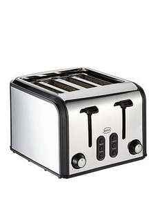 Swan ST70100PS 4 Slice Stainless Steel Toaster, Now £19.99  (free c&c) @ Very