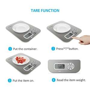 Digital Kitchen Scale , Size as ipad Pro - £9.99 with 40% off promo (Prime / £14.74 non Prime) - Sold by HomgeekDirect and Fulfilled by Amazon