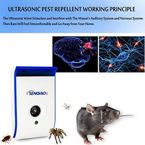 35% off on Ultrasonic Pest Repellent £11.05 prime / £15.79 non prime Sold by DEIFEI and Fulfilled by Amazon