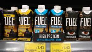 fuel 10k drinks, porridge and quark 5 for £4 @ Asda