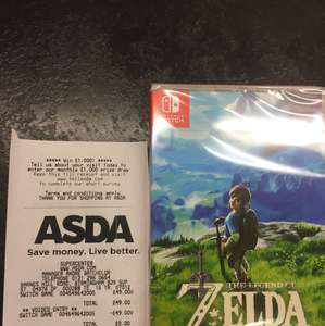 Zelda - Breath of The Wild - Nintendo Switch £40 @ Asda Barnes Hill Road, Birmingham