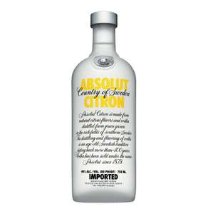 Absolut Citron Vodka 70cl (or normal) £14.99 at Nisa Stores