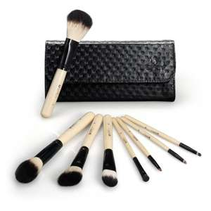 8 Piece Make up Brush Set with Leather Pouch Set £3.99 Prime / £5.94 non Prime Sold by Sunvalleytek-UK and Fulfilled by Amazon