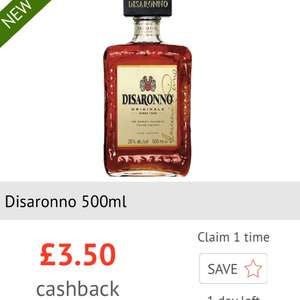 £3.50 cashback on Disaronno via Checkoutsmart
