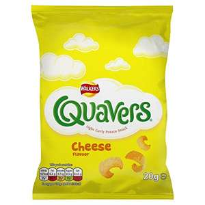 Walkers Quavers Cheese Snacks, 20 g (box of 32) ONLY £4.68 (15p per bag!) @Amazon Add-on Item