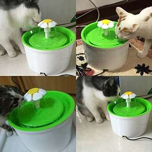 Silent Flower Pet Fountain 1.6L - £12.99 Prime / £17.74 - Sold by ceyo / Fulfilled by Amazon