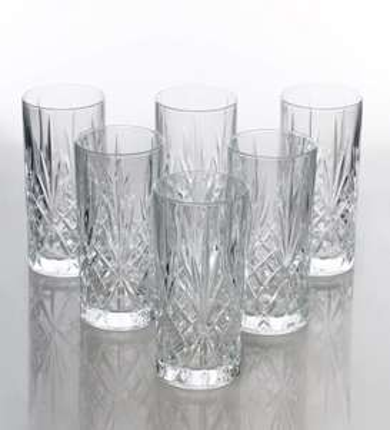 Robert Dyas - RCR Crystal Melodia Hiball Tumbler Glasses (Set of 6) Clear - £8.49 Free C+C