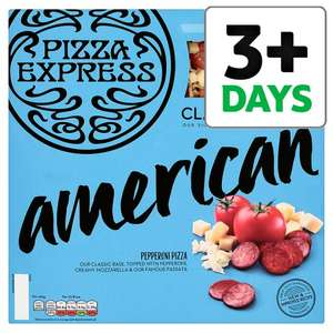 Large Pizza Express American 475G or Margherita Pizza 455G half price, now £3 @ tesco