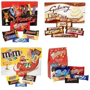 Half Price Selection Boxes Cadburys, Mars, Galaxy, M&Ms, Nestle etc From £1 @ Tesco From 15th