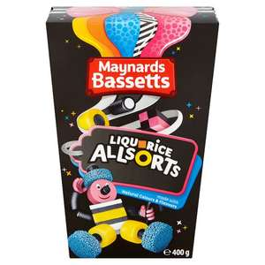 Bassetts Liquorice All Sorts 400G,Jelly Babies 400G,Wine Gums 400G Half Price £1.25 @ Tesco From 15th Nov