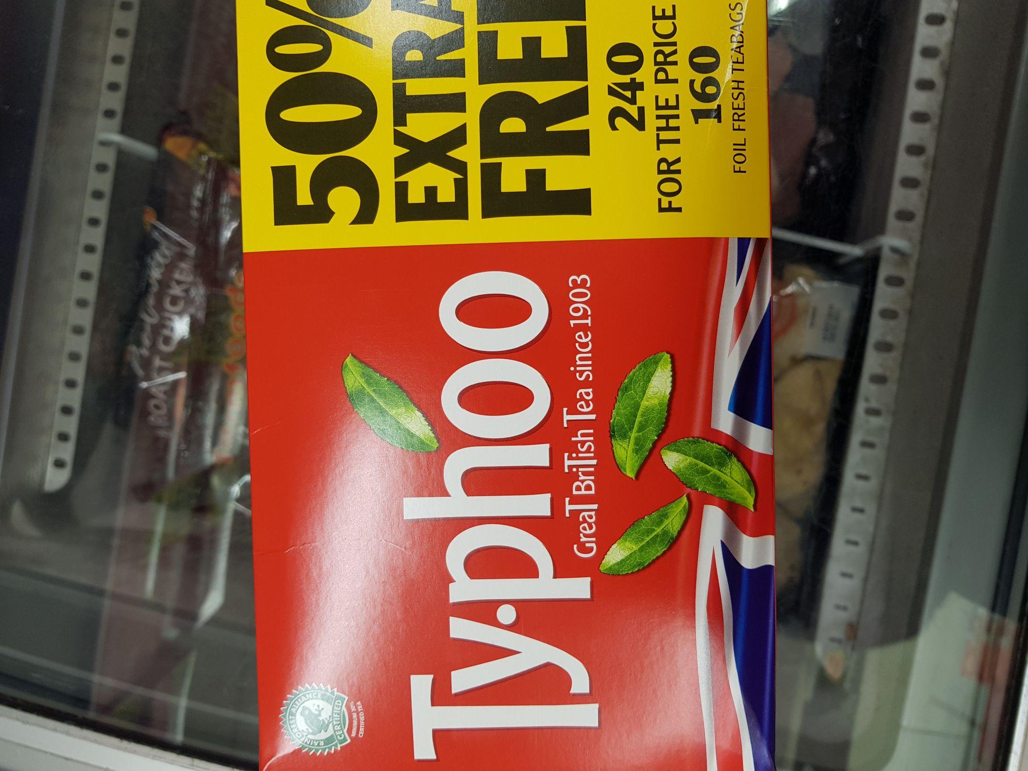 2 for £5 typhoo 240 tea bags @ farmfoods