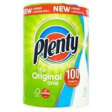 Plenty White Kitchen Roll 100 Sheets 2 for £2 or £1.85 each @ Tesco from 15th