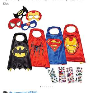 LAEGENDARY Superhero Costumes for Kids  £16.95  (Prime) / £20.94 (non Prime)  Sold by LAEGENDARY and Fulfilled by Amazon.