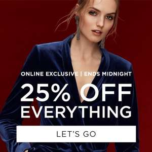 Dorothy Perkins 25% off everything till midnight