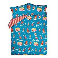 Santa Travels Reversible Duvet Cover w/ 2 Pillow Cases - King £6 / Single £8 @ George Asda