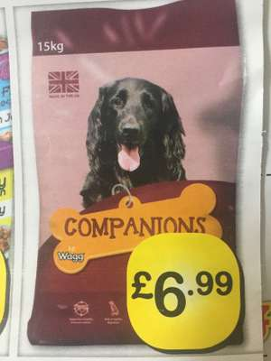 Companions by Wagg 15kg £6.99 @ farmfoods