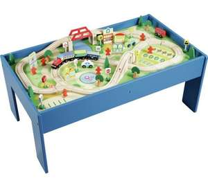 Chad Valley Wooden Table and 90 Piece Train Set £39.19 w/code @ Argos