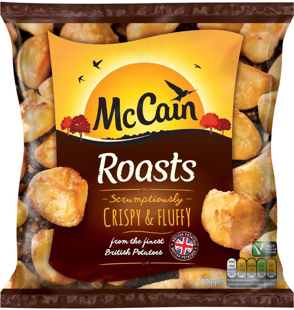 McCain Roast Potatoes Frozen (800g) was £2.10 now £1.00 @ Ocado