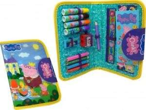 Peppa Pig Stationary Character filled Pencil Case with Colours £3.99 Delivered - Stocking Filler @ eBay Zoggs Official