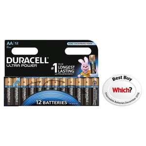Duracell Ultra Aa 12 Pack £6 @ Tesco direct free C+C