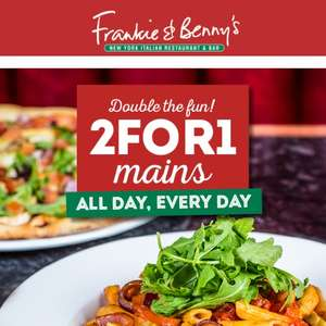 Frankie and Benny's 2 for 1 mains all day everyday