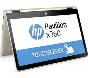 "HP Pavilion x360 14-ba048sa 14"" 2 in 1 - Silk Gold/Silver - £449 @ PCWorld"