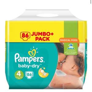 B&M have Pampers jumbo+ packs all £9