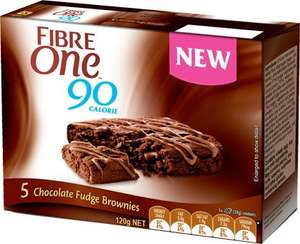 FIBRE-ONE 90 CALORIE BROWNIES 5PK £1 @ B&M