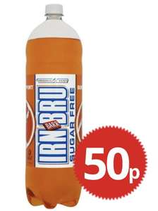 Irn Bru sugar free 2 litres for 50p at poundstretcher
