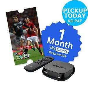 Now TV box with 1 month sky sport pass free c&c £19.99 @ Argos Ebay