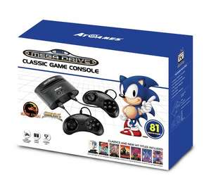 Sega Mega Drive Classic Games Console With 81 Built-In Games (2 Controllers) £34.99 @ Argos