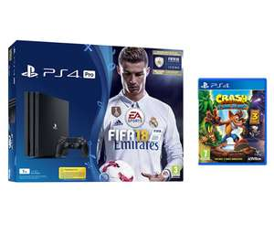 PS4 Pro 1TB  + Fifa 18 +  Crash Bandicoot N Sane Trilogy = £299 @ Currys (Same bundle with extra game of Call of Duty WW11 = £330)