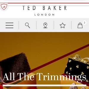30% off all full price items at Ted Baker