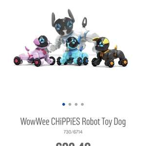 Chippies toy robot dog £22.49 from £44.99 argos