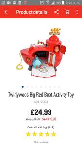 Twirlywoos big red boat £24.99 Argos