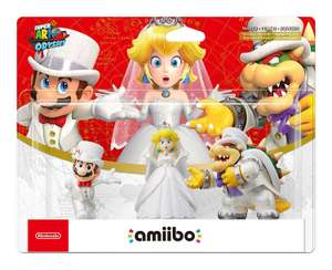 Super Mario Odyssey Amiibo Triple Pack (Mario, Peach, Bowser Wedding Outfits) - £25.58 - Amazon.fr
